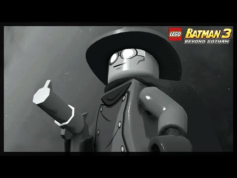 LEGO BATMAN 3 - GRAY GHOST FREE ROAM GAMEPLAY!