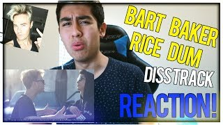 REACTING TO BART BAKER - RICE DUM (OFFICIAL RICEGUM DISS TRACK) VIDEO!