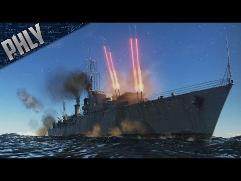Royal Navy - TRIBAL DESTROYER Gameplay (War Thunder Naval Forces)
