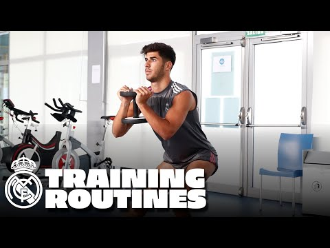 How are Real Madrid players' training routines planned?