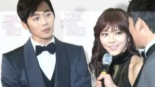 [SSTV] 'MBC 연기대상' 김재원-손담비, 비주얼 최강 '찰떡호흡 MC'