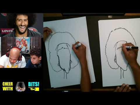 Drawing Caricatures with My Nephew - Colin Kaepernick