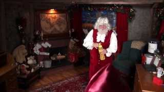 Santa Snooper Webcam Video 002- Santa Claus Bubbles & Exercises