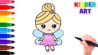 Как нарисовать маленькую фею | How to draw a little fairy