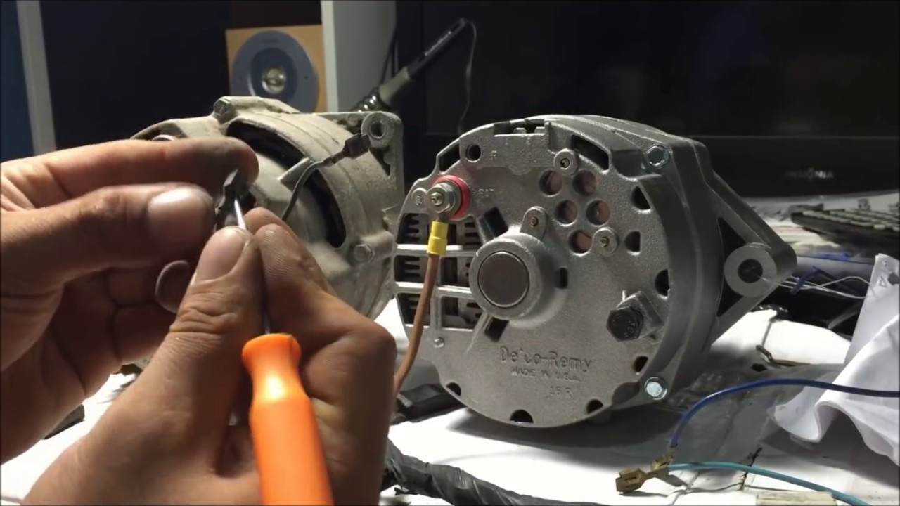 how to rewire alternator wiring harness for internally