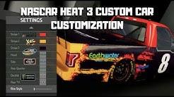 NASCAR HEAT 3 CUSTOM CAR CUSTOMIZATION GAMEPLAY!!