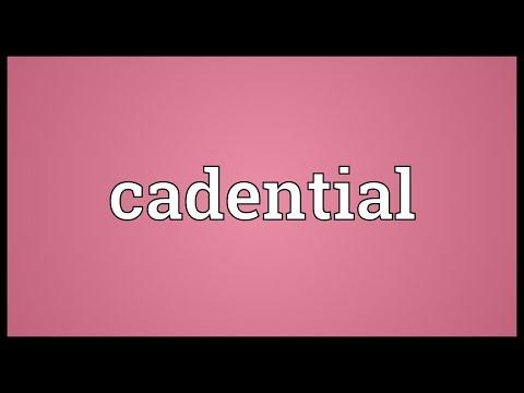Header of cadential