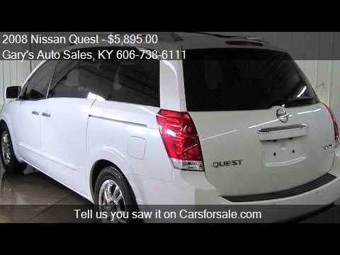 2008 Nissan Quest For Sale In Sandy Hook Ky 41171 At The Ga Youtube