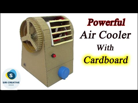 How to Make A Powerful Air Cooler At Home More Cool Like AC with Cardboard | DIY Tutorial