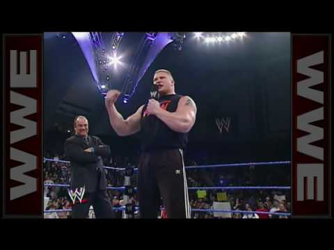 Stone Cold confronts Brock Lesner
