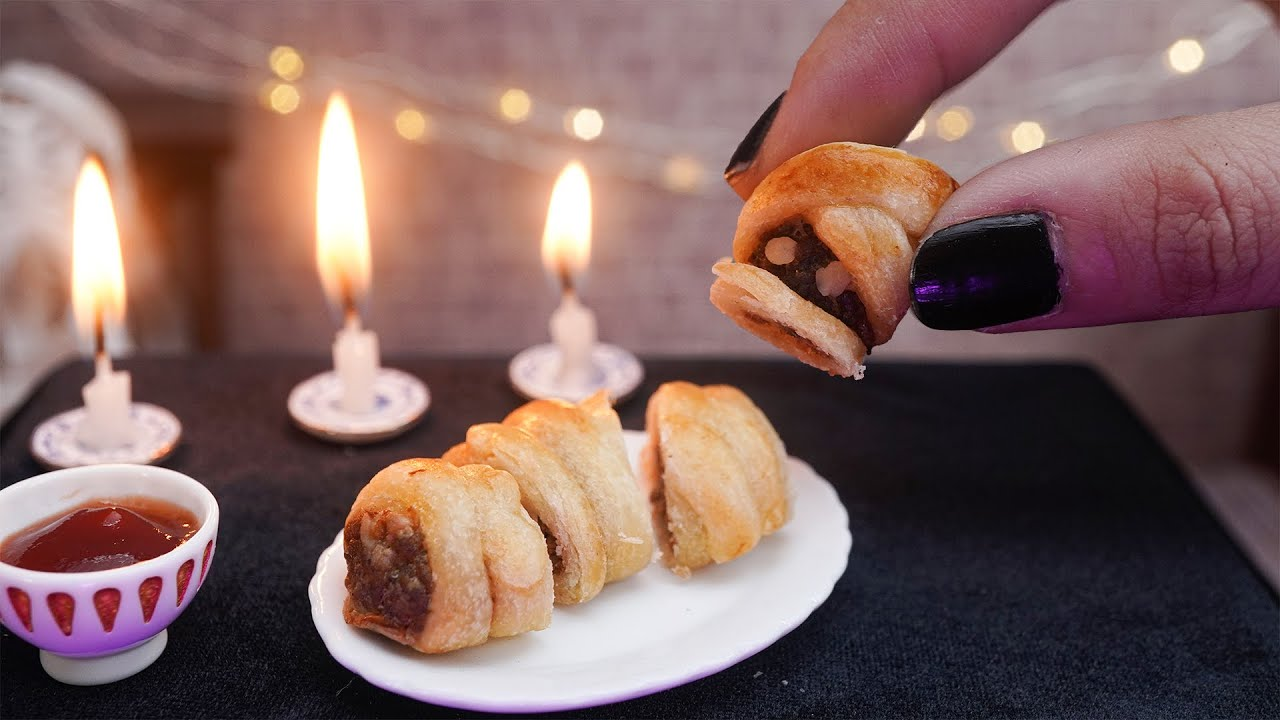 Miniature Mummy Meatloaf for Halloween - ASMR Best of Miniature Cooking Mini Real Food