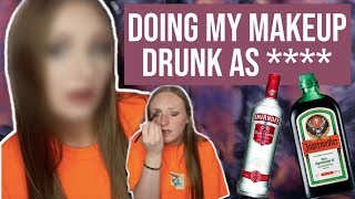 blackout drunk makeup tutorial (fail) | alaina