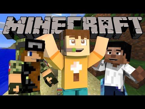 The Crew Plays Minecraft! Llama Land Episode 1 (The Polar Bear Hunt)