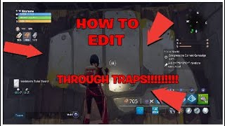 NEW EDIT GLITCH!! HOW TO EDIT THROUGH TRAPS Fortnite Save The World