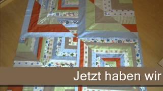 Patchworkdecke Quilt aus Stoffresten nähen.Teil 1 von 3.