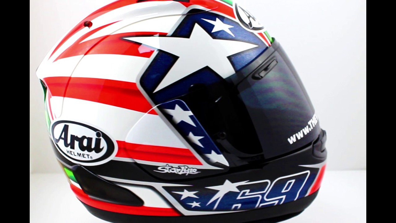 arai rx 7v hayden motorcycle helmet thevisorshop youtube. Black Bedroom Furniture Sets. Home Design Ideas