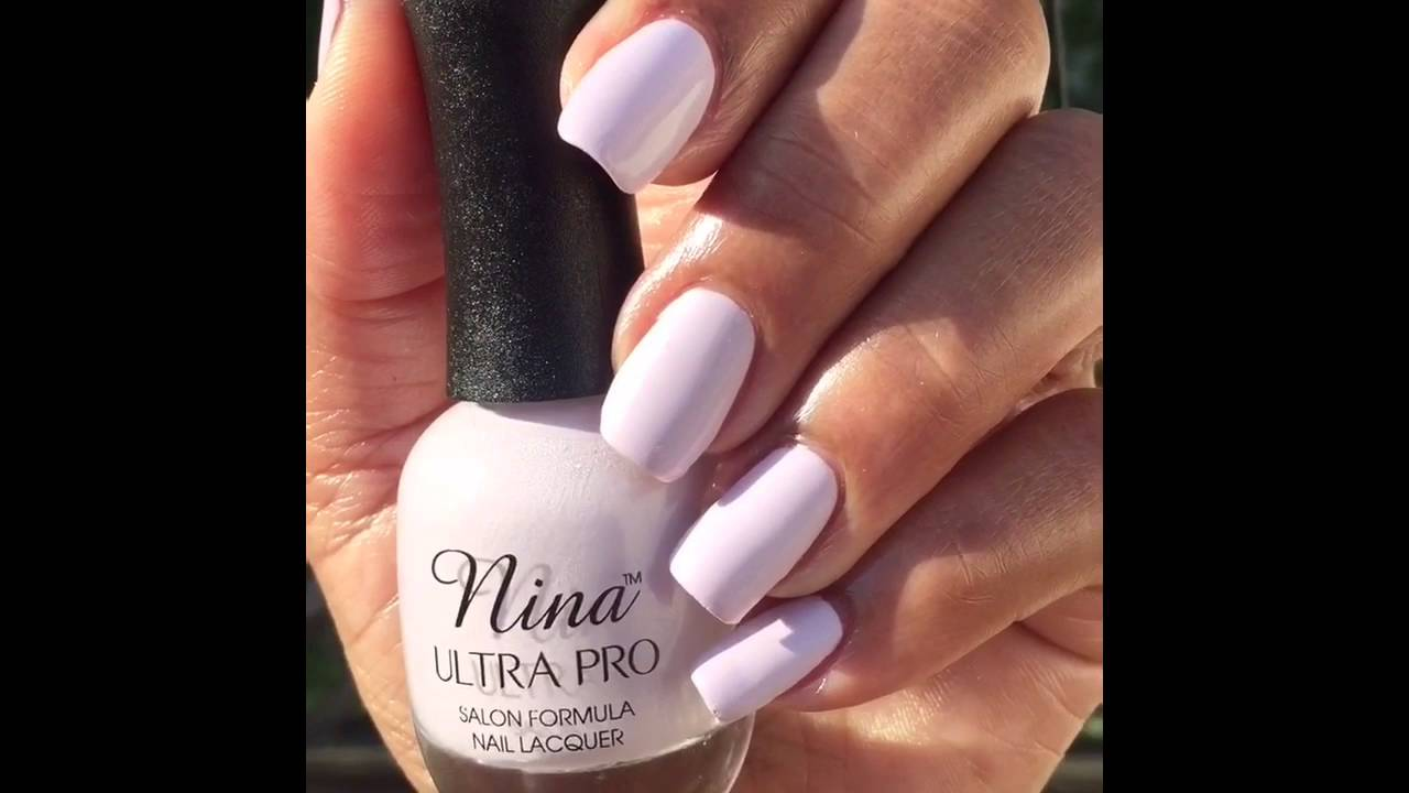 Nail of the Day featuring Nina Ultra Pro Lilac Whispers - YouTube