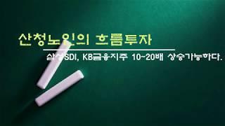 [산청노인의 흐름투자] 삼성SDI, KB금융지주 10~20배 상승가능하다