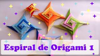 ESPIRAL ESTRELA DE ORIGAMI - 1ª VERSÃO