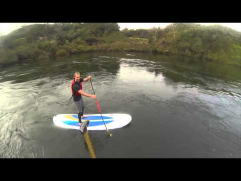 Waikato sup from Cambridge to Grantham with Raglan Watersports