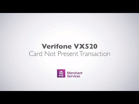 Verifone VX 520 (Alternate Screen) | Card Not Present Transaction | AIB Merchant Services