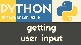 Getting Input From Users | Python | Tutorial 8
