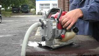 Honda pump demonstration