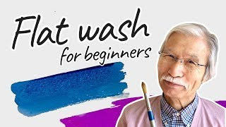 [Eng Sub] Flat wash Technique: Do's & Don'ts  | Watercolor for Beginners