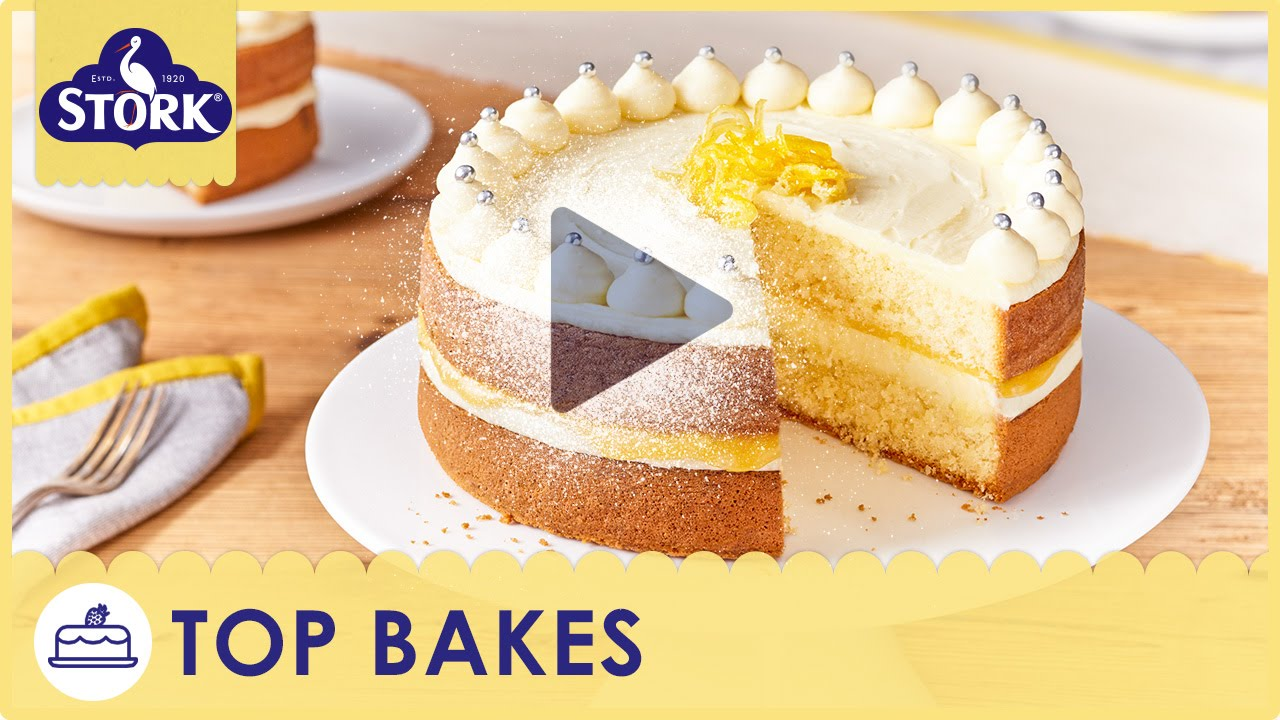 Zesty Lemon Celebration Cake Recipe Demonstration - Bake With Stork ...