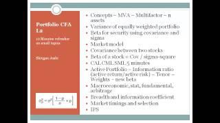 CFA Level 2 - Portfolio Management  Notes