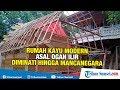 Rumah Kayu Modern Asal Ogan Ilir Diminati hingga Mancanegara