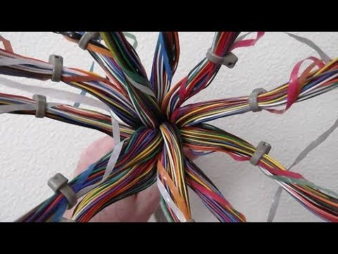 Colour coding of 100 pair copper cable