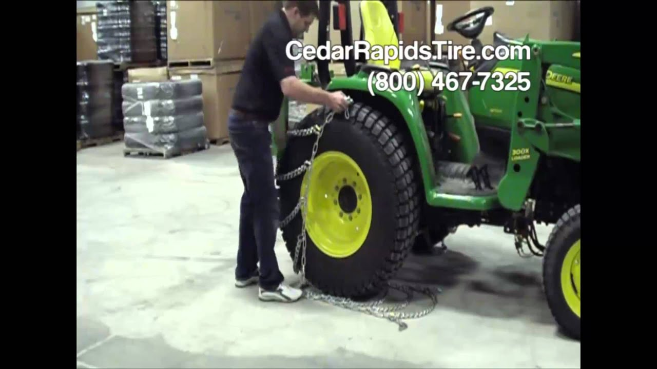 How To Install Tractor Tire Chains Youtube