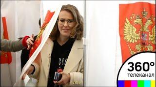 Ксения Собчак проголосовала в Москве