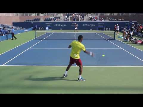 Gael Monfils vs  Dominic thiem (Us Open 2016)  ~ Warm up