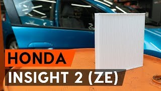 Kā nomainīt salona gaisa filtrs / salona filtrs HONDA INSIGHT 2 (ZE) [AUTODOC VIDEOPAMĀCĪBA]