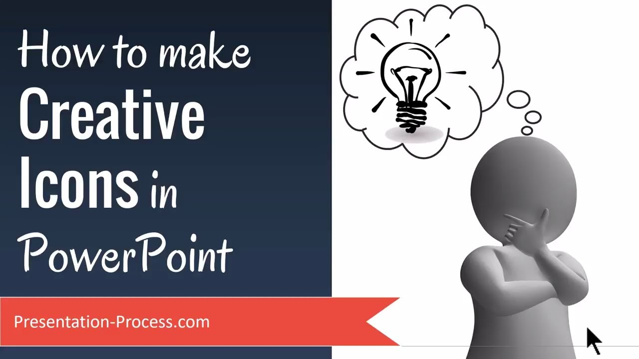 how to make creative icons in powerpoint youtube