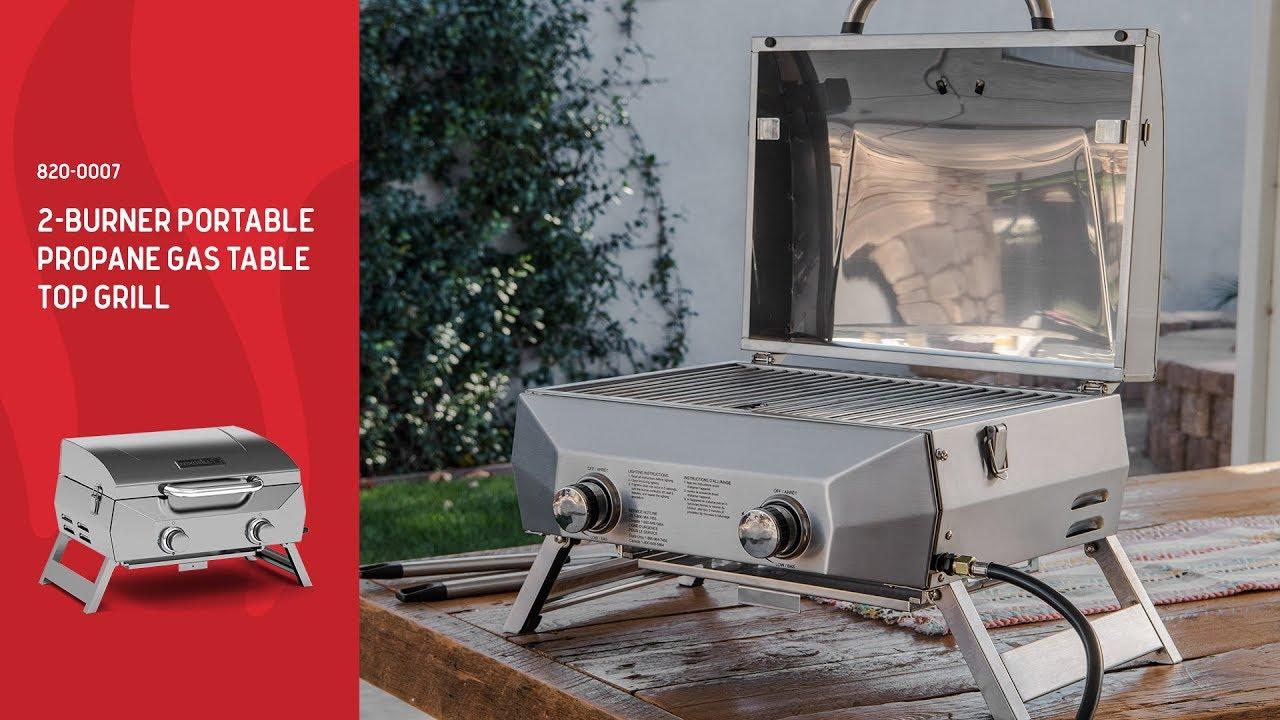 Nexgrill 2 Burner Portable Table Top Gas Grill (820 0007)