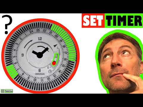 How to set timer on Combi Boiler - Gas Boiler Controls and Setting a pin time Clock