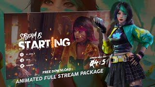 FREE FIRE ANIMATED LIVE STREAM PACK FREE DOWNLOAD | REY ASALTO