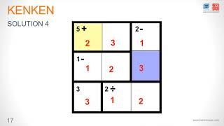 Kenken UAE- How to Solve a Kenken Puzzle Tutorial
