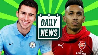 BREAKING: Aubameyang signs for Arsenal, Laporte signs for Man City + more! ► Onefootball Daily News