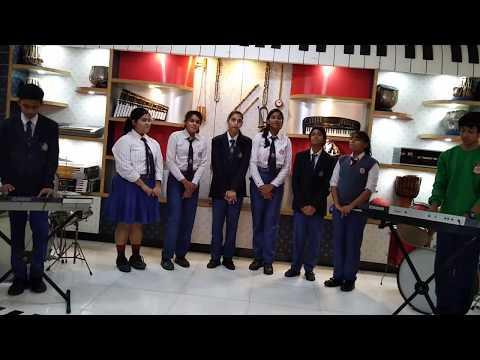 Basava International School Students Performing Karaoke- Hindi & French