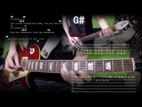 How to Play Sia Chandelier in Metal - Chords, Tabs, Lyrics