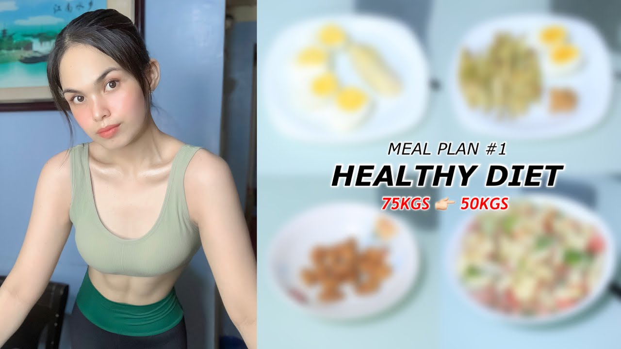 WHAT I EAT IN A DAY TO LOSE WEIGHT : Meal Plan #1   I lost 25kgs