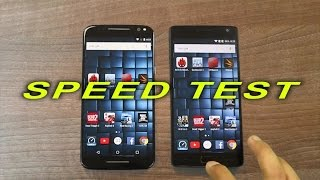 Moto X Pure Edition/Style vs OnePlus 2 - Speed Test