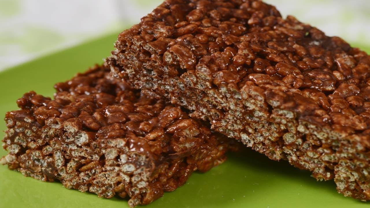 Chocolate Rice Krispies Treats Recipe Demonstration Joyofbaking Kripiss Medan Karamel Joyofbakingcom