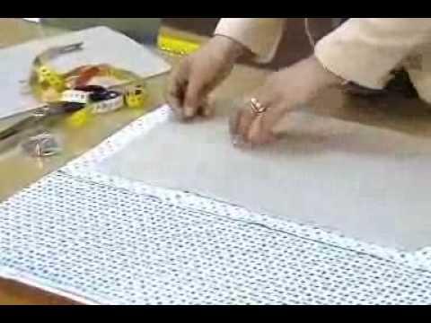 1be590d7f  وضع الباترون على القماش واخذ علامات القص والخياطة - YouTube