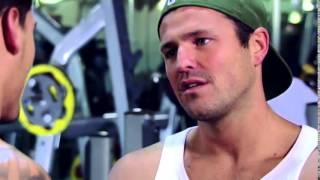 Towie Mark Wright meets Mario Falcone in the gym