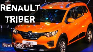 New RENAULT TRIBER | India Debut | 7 Seater Compact MPV Car Launch | News Today Live
